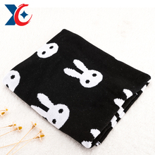 lovely jacquard wool embroidery soft thick fleece knitted fleece blanket