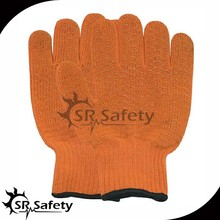 SRSAFETY PVC dot cotton glove/PVC grip gloves/PVC gloves
