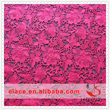 2015 latest embroidery design 100 polyester microfiber fabric polyamide stretch mesh fabric cheap african guipure lace fabric