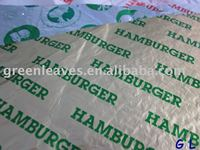 Food Wrapping Paper/hamburg wrapping