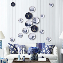 Porcelain decorative plates for wall hanging