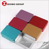 Gift Packaging Rectangle Colored Tin Watch