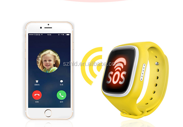 Children 's phone watch colorful touch screen sim card GPS positioning anti - lost waterproof kids smart watches A4