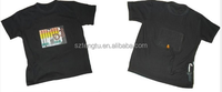 Popular sound activated EL light panel T-shirt