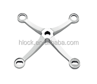 Four Arm Stainless Steel Glass Spider