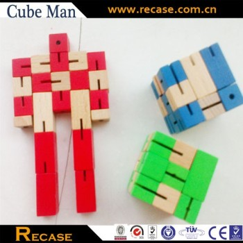 wooden foldable robot cubes for kids Toy Robot