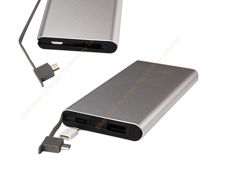 hot selling top quality safety certificate USB type-c multiport 5000mAh power bank