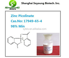 Shanghai Soyoung Zinc Picolinate 98% min cas 17949-65-4 nutritional supplement