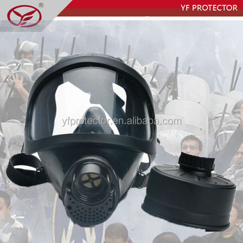 police silicone rubber full face anti gas mask for spraying chemicals