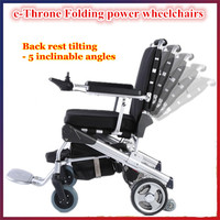 Supply 8'',10'',12'' e-Throne disabled electric wheelchair price company for handicapped &elderly