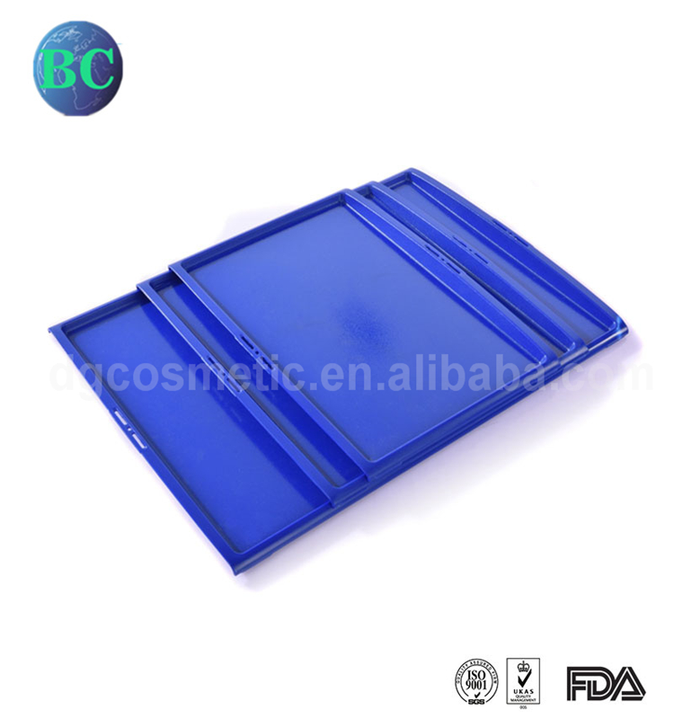 Alibaba China Wholesale Blue Reusable Restaurant Rectangle Non Slip Plastic Food Serving Tray