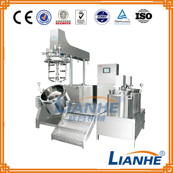 Top grade cosmetic cream making machine vacuum emulsifying cosmetic mixer machine