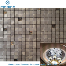new style self adhesive bathroom wall covering panels stainless steel crystal mirror glass mosaic tiles