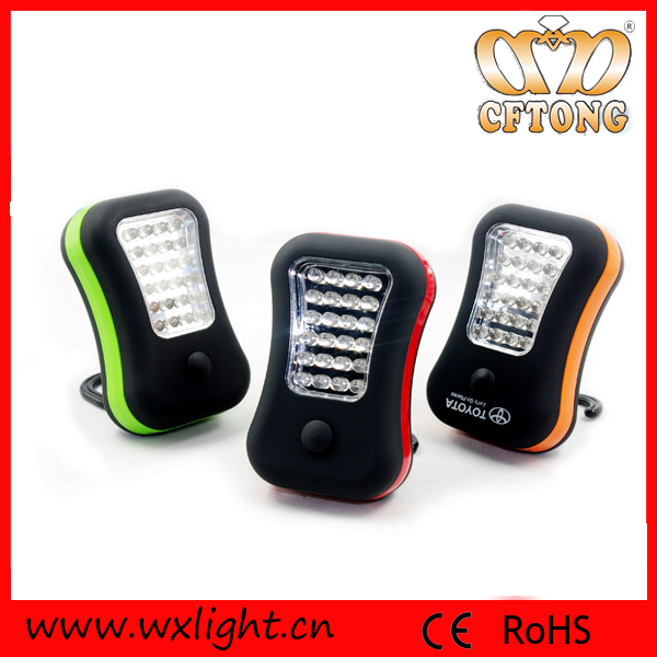 Rubber Finish Eco-friendly ABS Magnetic 28 LED Mini LED Worklight