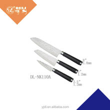 3 pcs embossment pattern coating decorative kitchen knife
