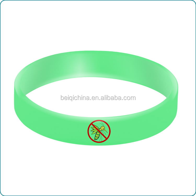 Customised Anti-Mosquito silicone wristband,harmless anti-mosquito silicone bracelet