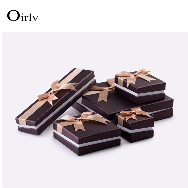 Oirlv Custom Cheap Special Paper Jewelry Box Ring Necklace Pendant Bangle Bracelet Packaging Paper Gift Box