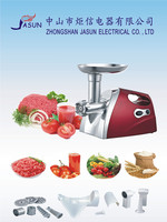 2015 China Hot sale OEM aluminum Tube plastic Housing electric MEAT GRINDER with sausage marker