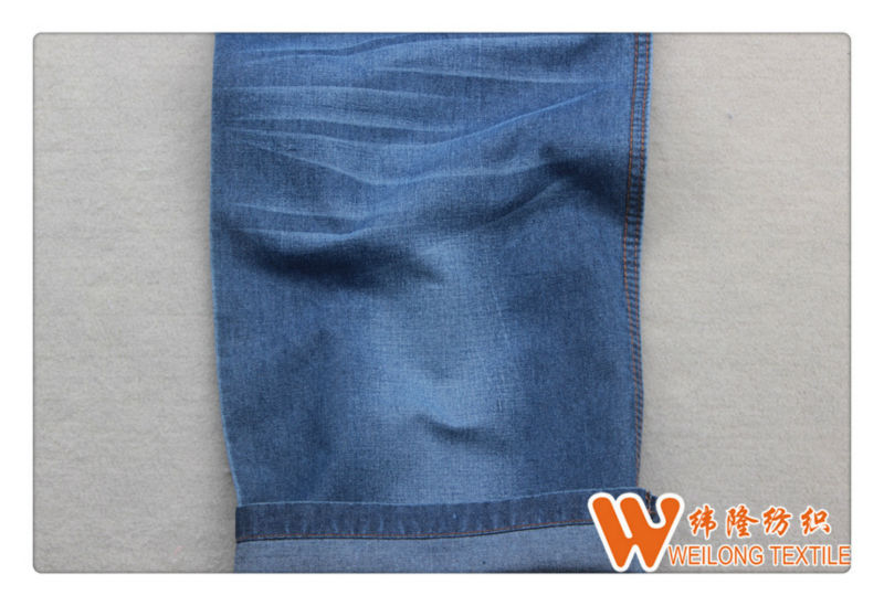 cheap price good quality light weight cotton yarn denim fabric for T-shirt A360