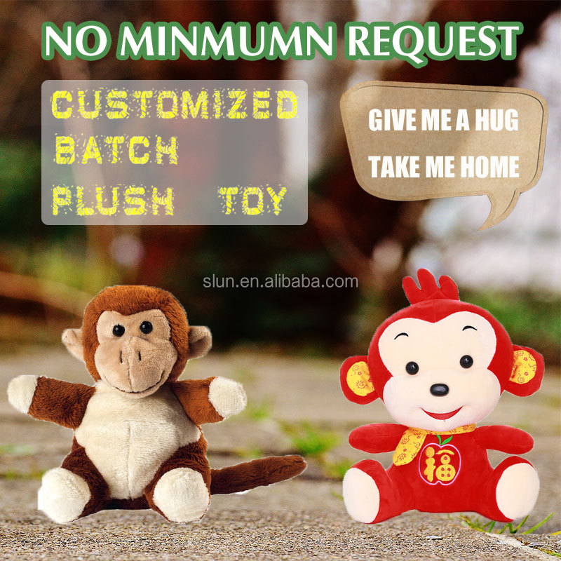 Sock monkey custom plush toy