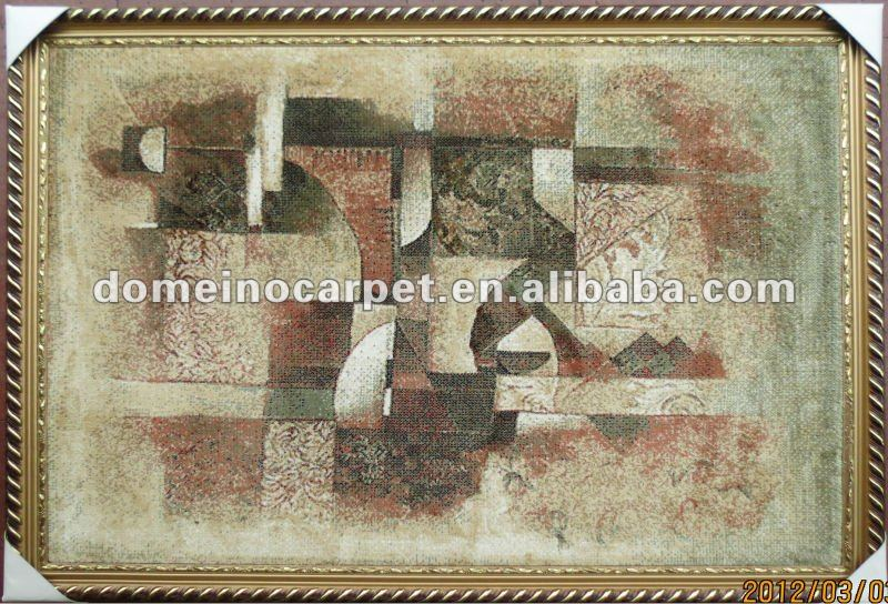 handmade wool/silk carpet
