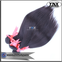 2016 Product 100% Unprocessed 6A Grade Virgin Combodian Hair Weaves Natural 1B Silk Straight Cambodian Virgin Hair For Sale