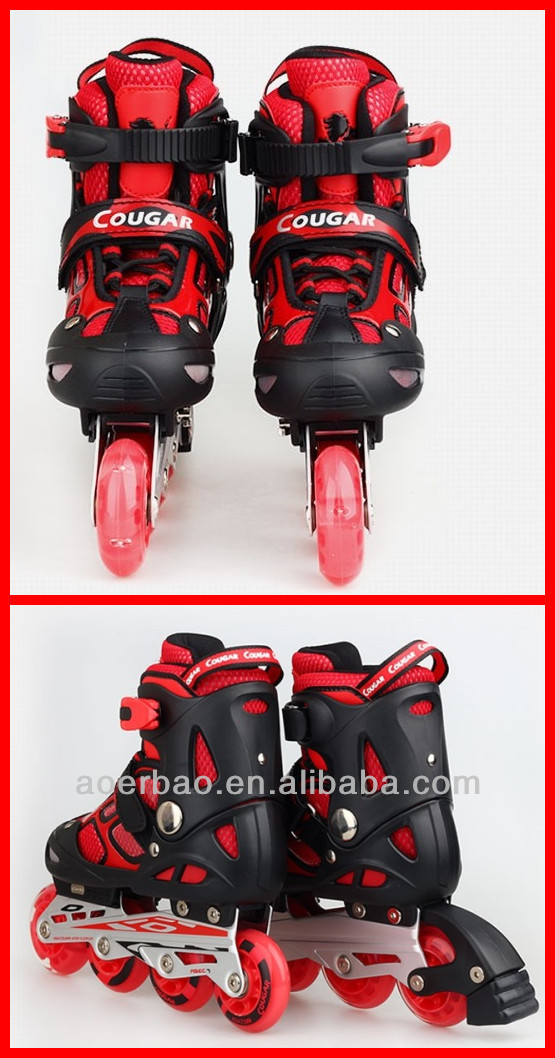 2015 Cool design children roller skate/flashing rollers skating shoe wholesaler