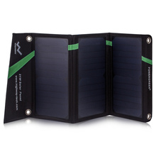 PowerGreen Foldable Solar Panel 21W Double Micro USB Solar Charger for Huawei
