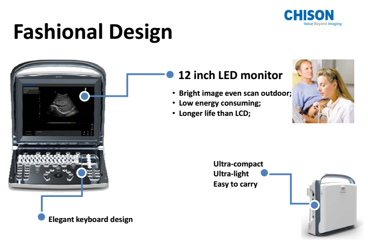 High quality cheap price 12 inch LED display portable ultrasound for sale ECO1