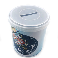 dongguan bulk embossed large round pencil tin box