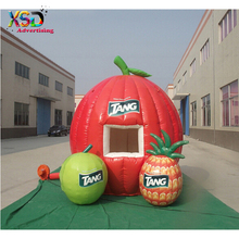 Attractive apple shaped inflatable booth / inflatable fruit tent / blowing fruit dome tent for sales promotion event
