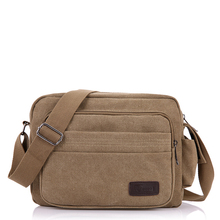 wholesale vintage blank canvas cross body shoulder messenger bags for men