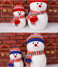 Christmas decoration, cute christmas dolls and lovely snowman