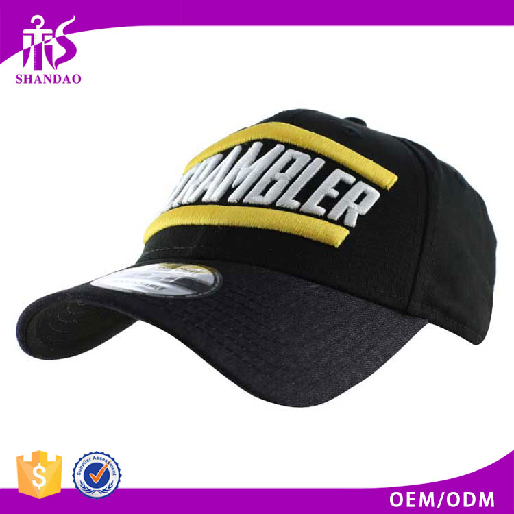 Guangzhou Shandao OEM Fashion 3D Embroidery Metal Adjust Closure Cotton Baseball Cap