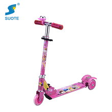 Hot selling new model baby toy children adjustable PVC materail 3wheel kids scooter with bell