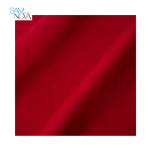 SAMNOVA 100%polyester Red Brushed Sportswear Garment 152gsm Circular Fleece knitted fabric