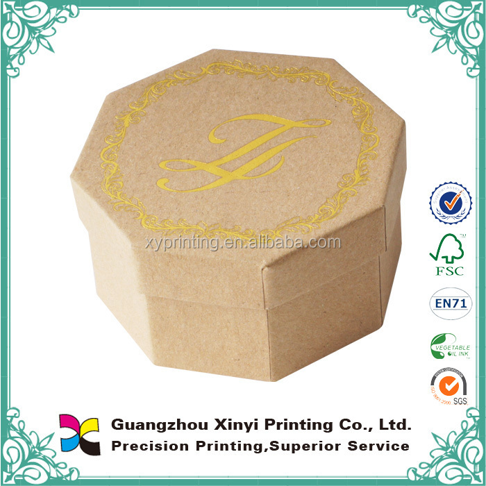 Custom made gold fancy paper logo golden stamping cardboard printing rounded boxes for chocolate