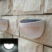 Solar Powered 6 LEDs Light Sensor LED Wall Light Garden Lamp For Outdoor Home Stair Waterproof