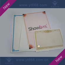 Custom anti-fake security watermark paper with thread invisible pattern