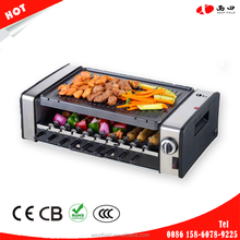 Home Use Electric BBQ Grills Smoke Free Rotating Feature
