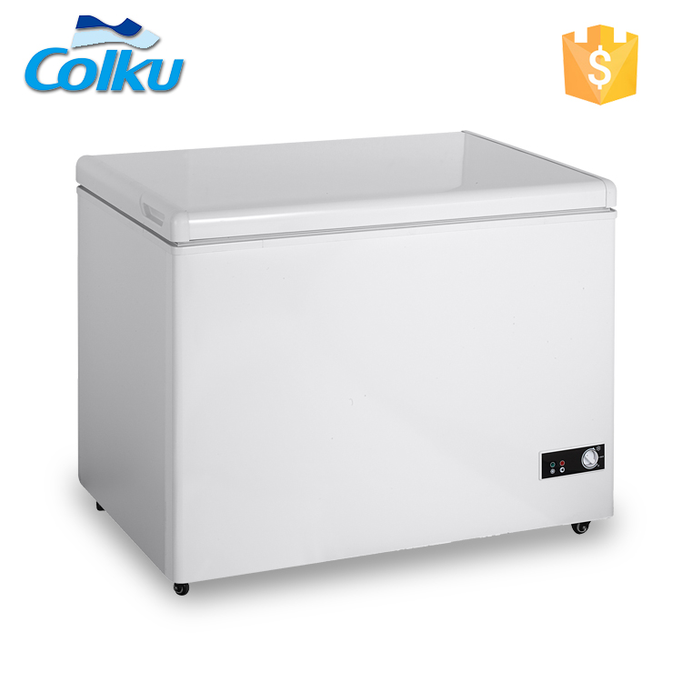 DC-160F Solid Door Long Life Expectancy Tall Chest Freezer For Sale