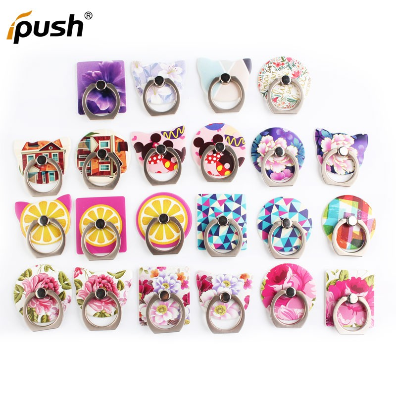 Fashion colorful Christmas Gift Ring Holder For Mobile Phone 360 Degree Ring Phone Holder