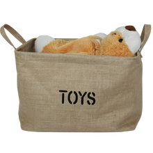 Eco-friendly Jute Fold Up Storage Box , Cute Kids Toy Storage Box