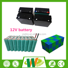 Long life cycle LED lighting 12V Lifepo4 rechargeable battery