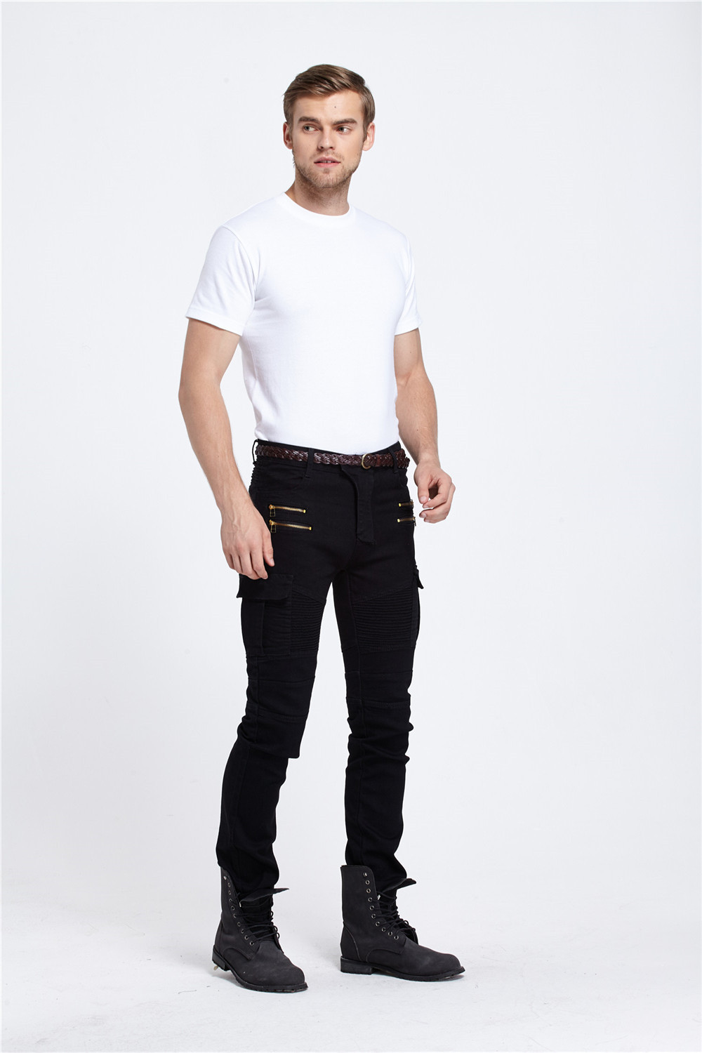 Denim custom mens distressed slim unisex skinny biker formal jeans