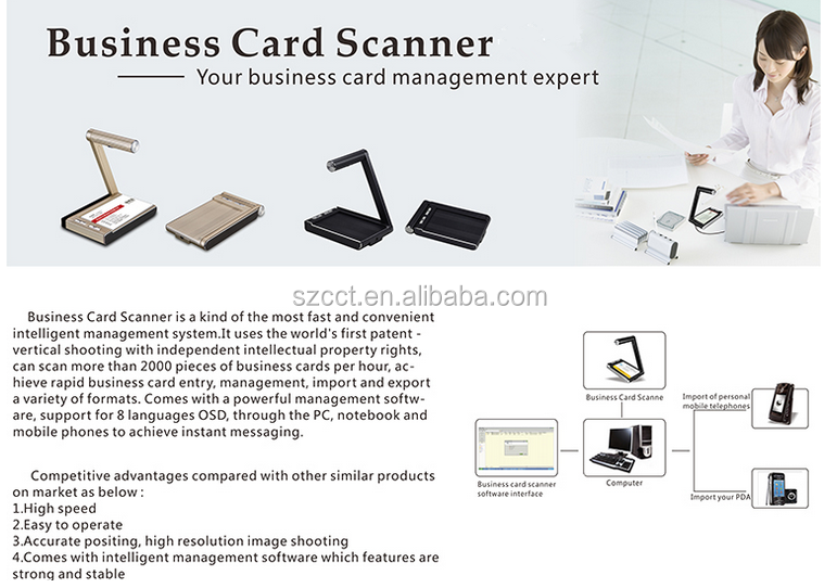 Latest Handheld Image Scanner for name card BC-01