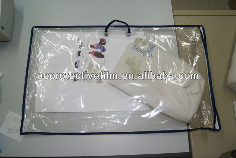 High Quality clear plastic packaging bag for pillow