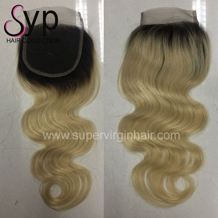 1B 613 Blonde Body Wave Ombre Brazilian Human Hair Extension,frontal with bundles, Cheap Blonde Hair Bundles With Lace Closure