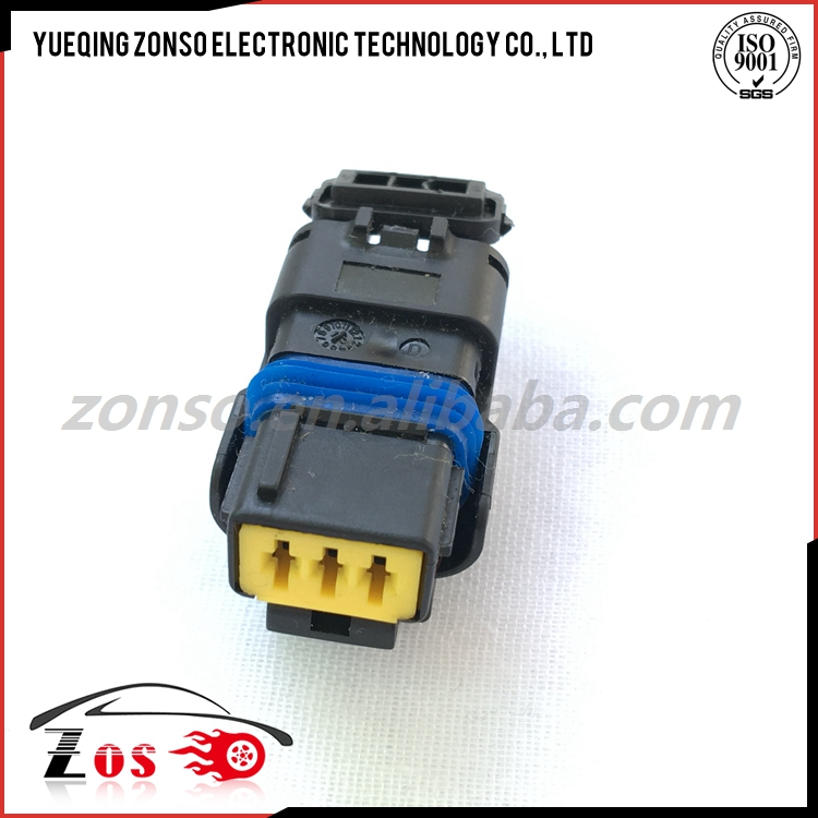 DJ7037Y-2.5-21 3 Way Black Sicma FCI male female Socket Connector pbt gf20