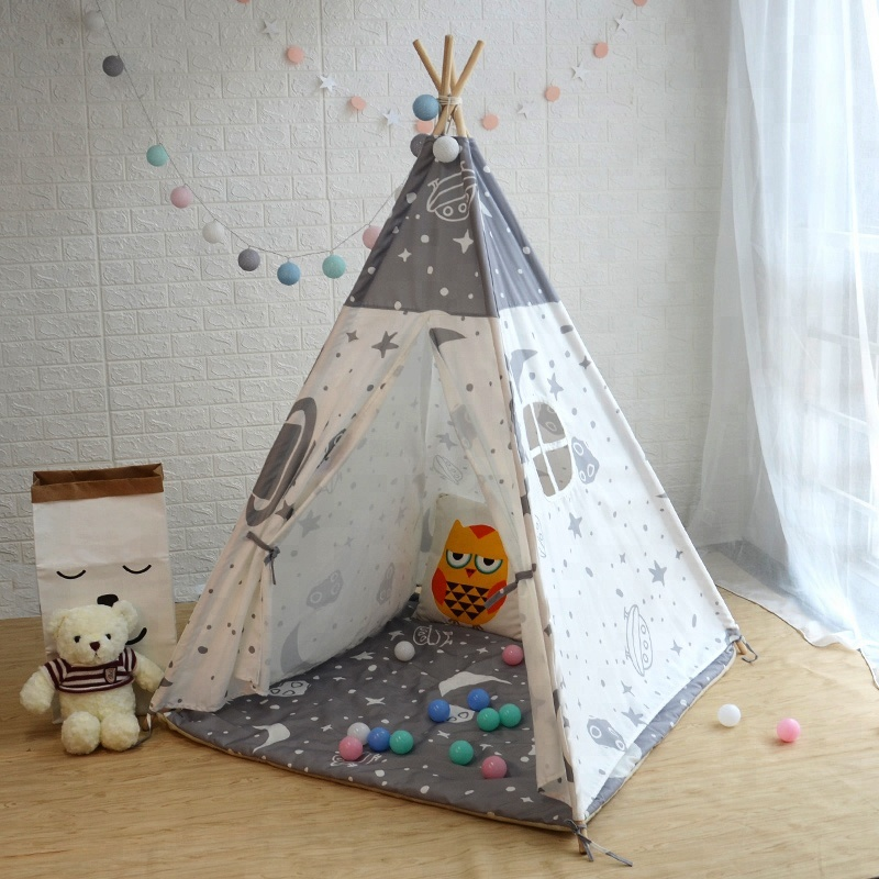 Little Star Airship Cotton Polyester Cloth Kids Play Teepee Tents with Mattress Tipi Tent Children Wholesale & Little Star Airship Cotton Polyester Cloth Kids Play Teepee Tents ...